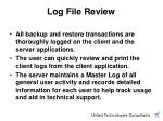 log file review