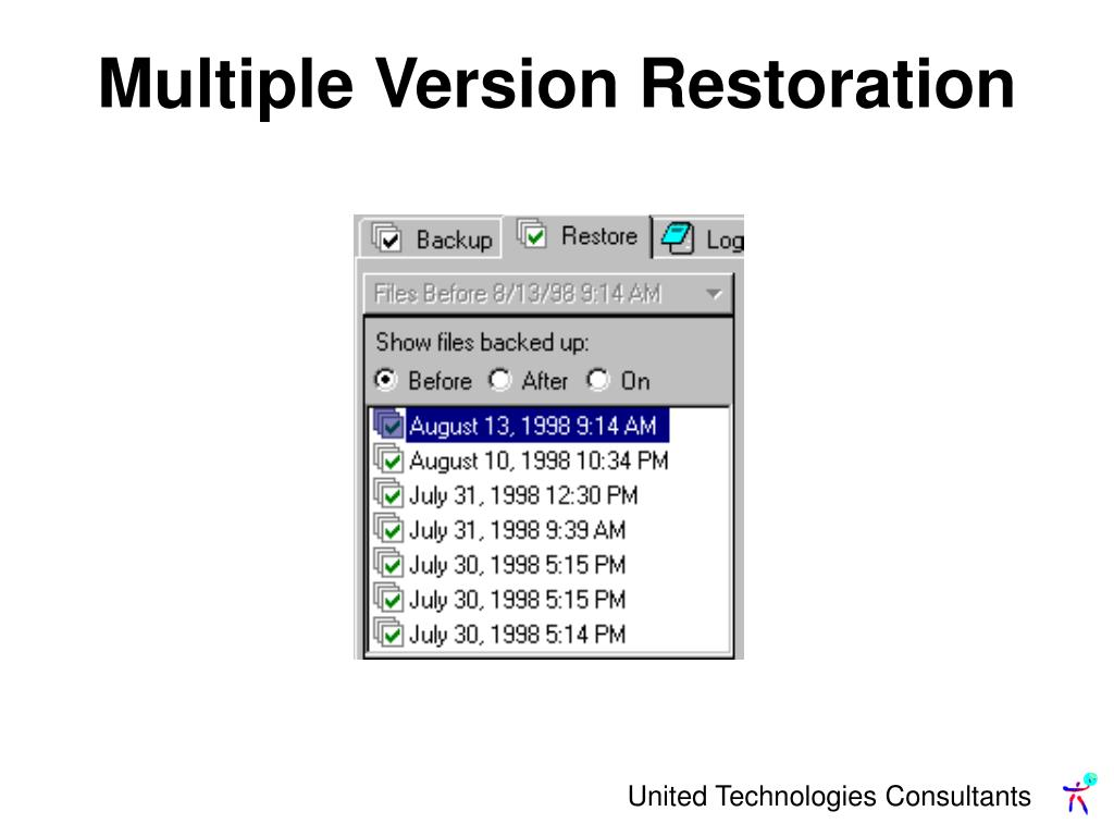 Multiple Version Restoration