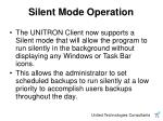 silent mode operation