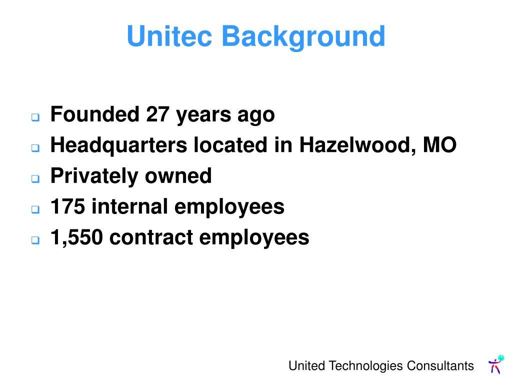 Unitec Background