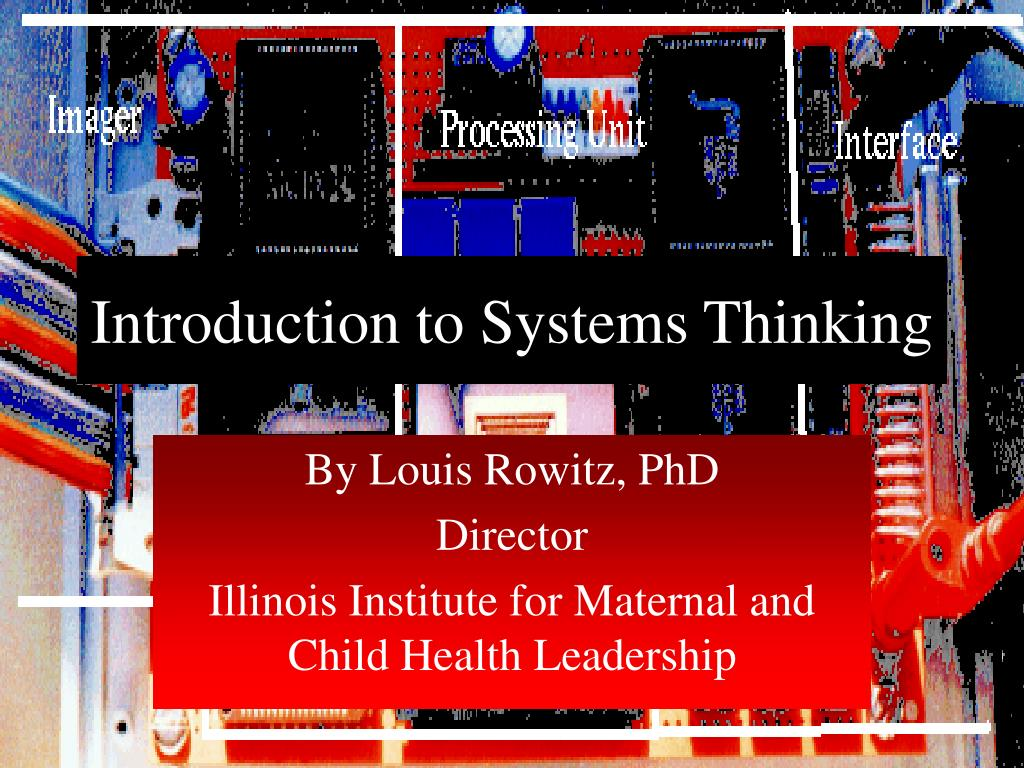 introduction to systems thinking l.