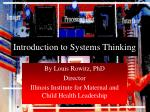 introduction to systems thinking