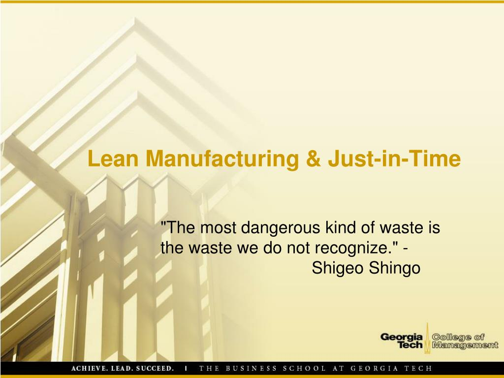 lean manufacturing just in time l.