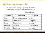 minimizing waste 5s
