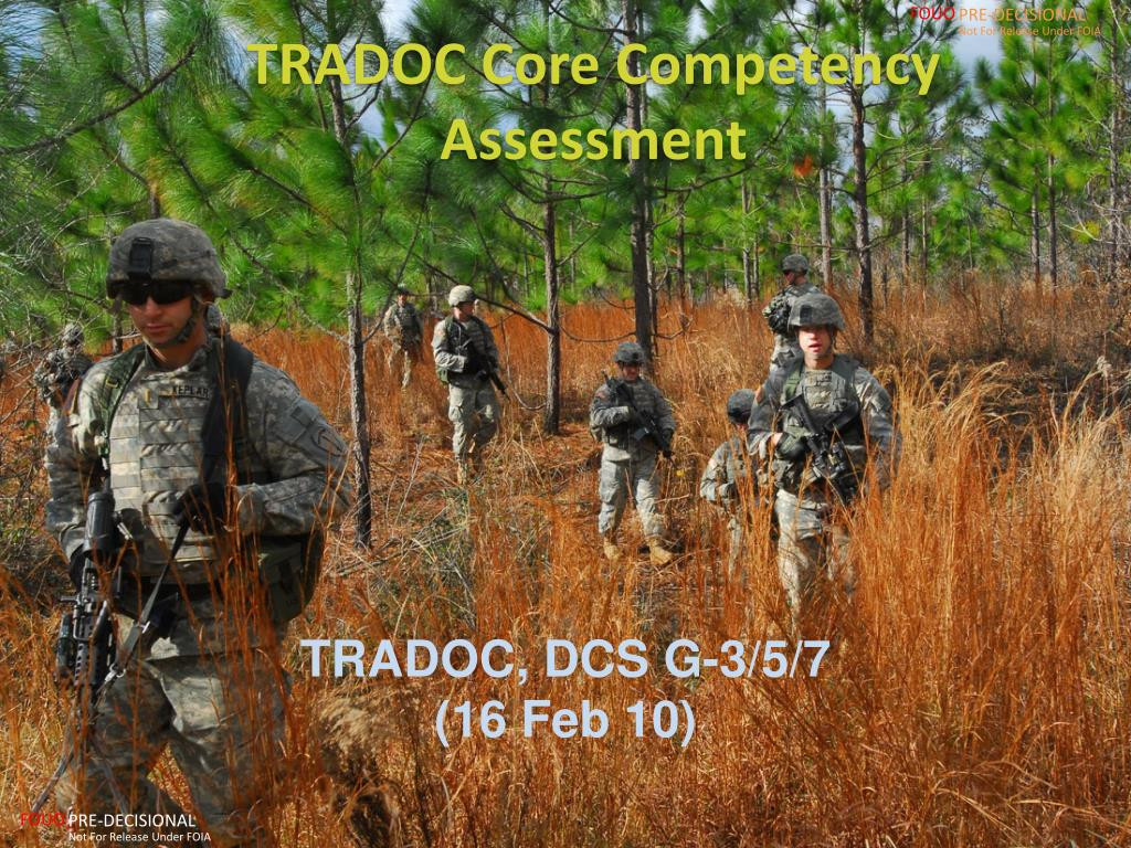 tradoc core competency assessment l.