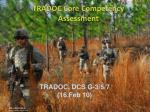 tradoc core competency assessment