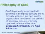 philosophy of saas