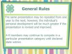 general rules24
