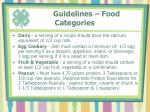 guidelines food categories34