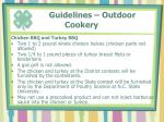guidelines outdoor cookery