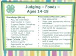 judging foods ages 14 18