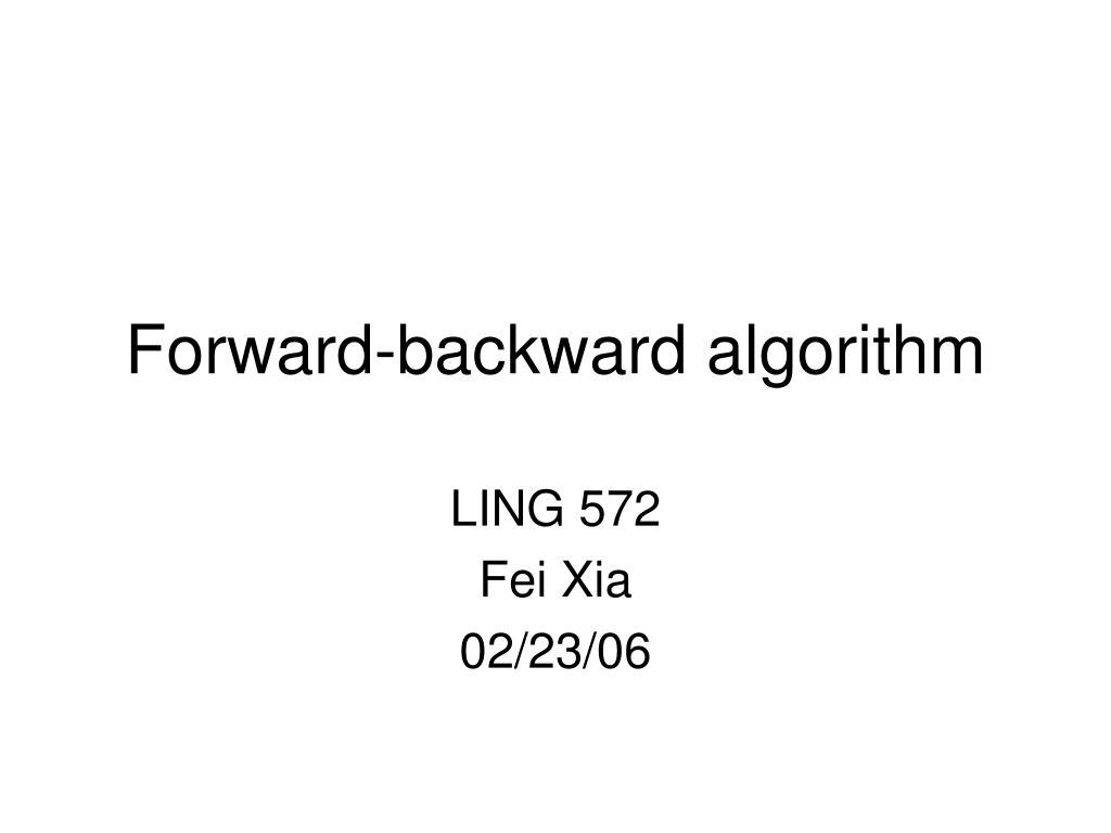 forward backward algorithm l.