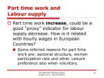 part time work and labour supply