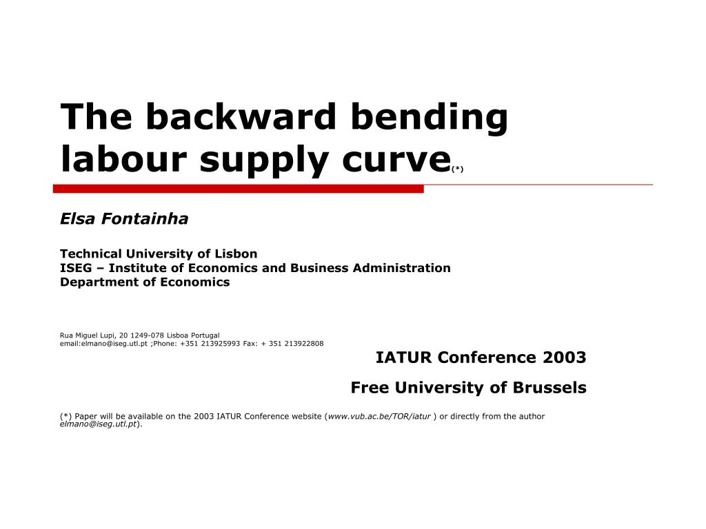 the backward bending labour supply curve l.