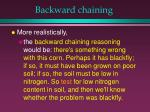 backward chaining28