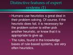 distinctive features of expert systems 113