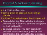 forward backward chaining