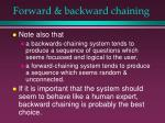 forward backward chaining33