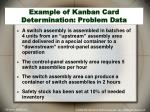 example of kanban card determination problem data