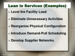 lean in services examples31