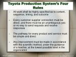 toyota production system s four rules