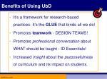 benefits of using ubd