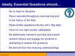 ideally essential questions should