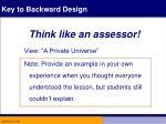 key to backward design