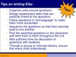 tips on writing eqs