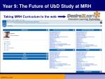 year 9 the future of ubd study at mrh