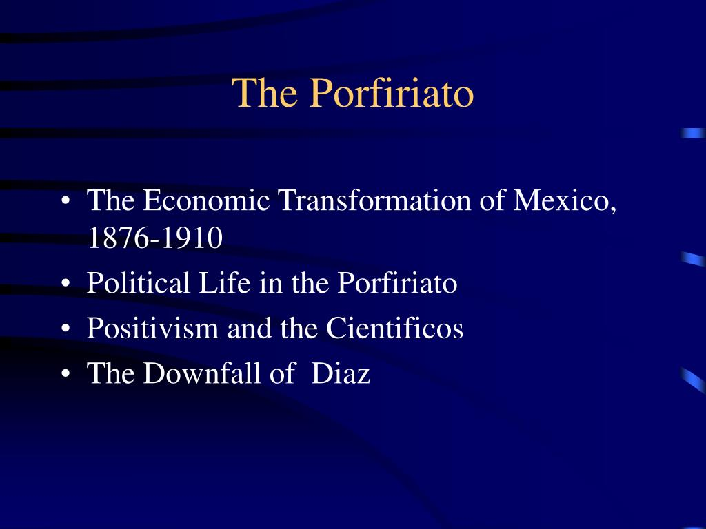 the porfiriato l.