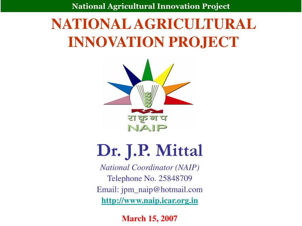 national agricultural innovation project l.