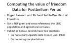 computing the value of freedom data for postbellum period