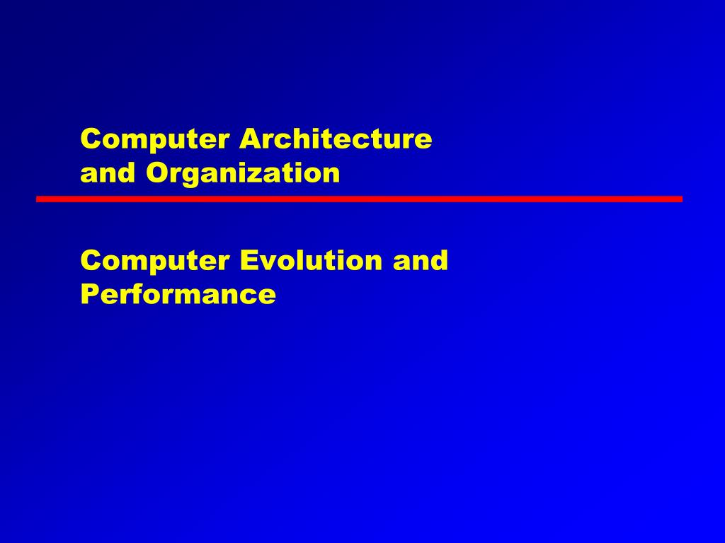 computer architecture and organization l.
