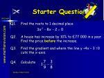 starter questions33