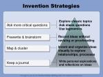 invention strategies