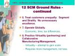 12 scm ground rules continued22