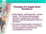 principles for supply chain excellence15