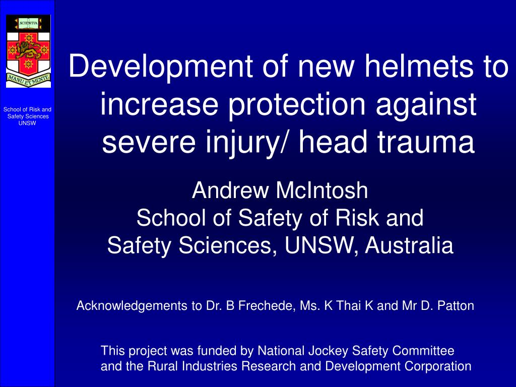 development of new helmets to increase protection against severe injury head trauma l.