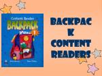 backpack content readers