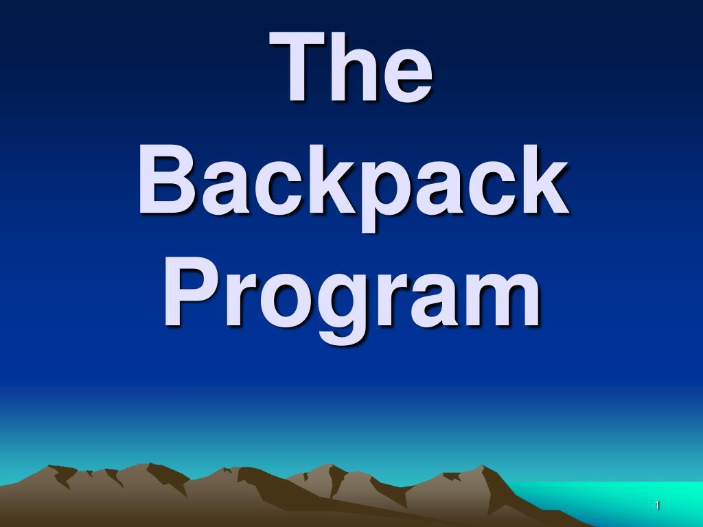 the backpack program l.