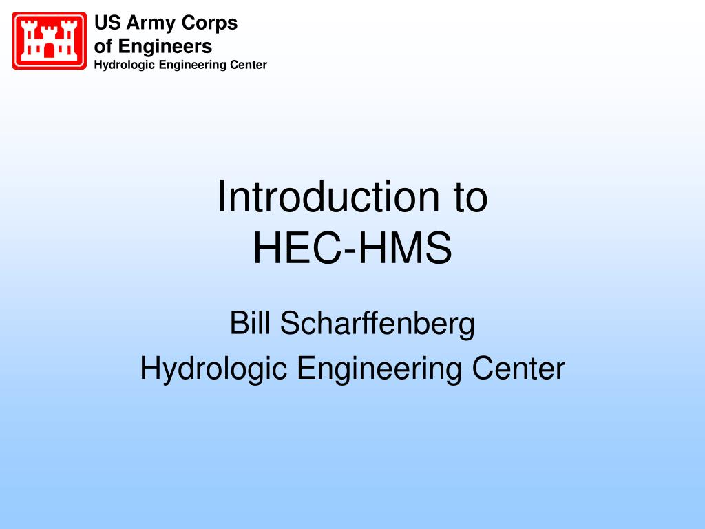 introduction to hec hms l.
