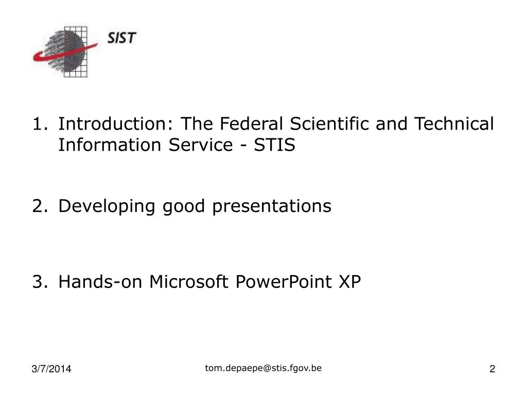Introduction: The Federal Scientific and Technical Information Service - STIS
