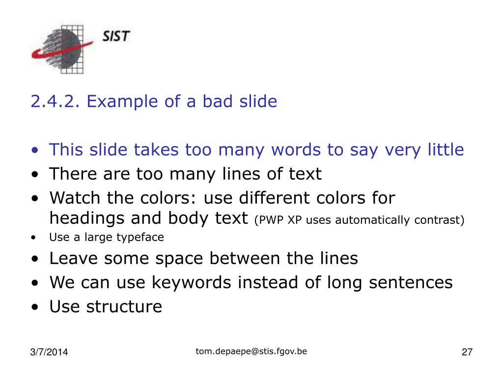 2.4.2. Example of a bad slide
