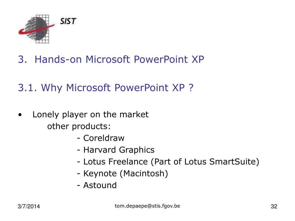 3.  Hands-on Microsoft PowerPoint XP