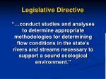 legislative directive