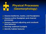 physical processes geomorphology