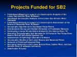 projects funded for sb2