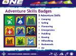 adventure skills badges
