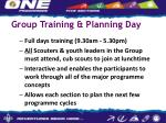 group training planning day
